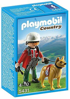 Playmobil 5431 Mountain Rescuer With Search Dog