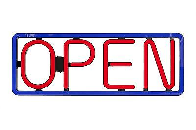 Rectangular Led Open Signs Neon Styles Large Letter Display Vivid Bright Color