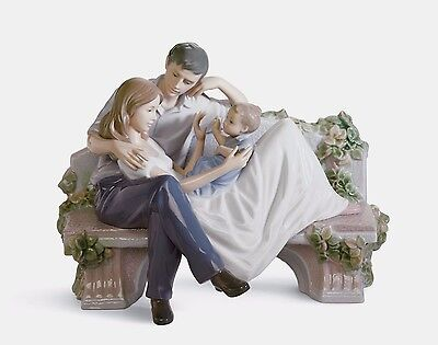 LLADRO  Family Mother Father Child 01008056  A PRICELESS MOMENT 8056 NEW IN BOX