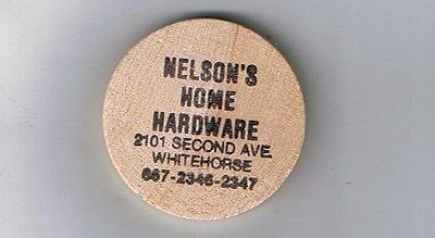 Whitehorse Yukon Wooden Nickel Token - Nelson's Hardware