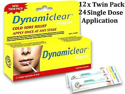 12 x Single Application (0.5ml ) DYNAMICLEAR RAPID (suits cold sore application)