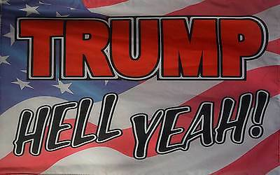 Trump Hell Yeah Usa 3'x5' Poly Flag, Made In The Usa