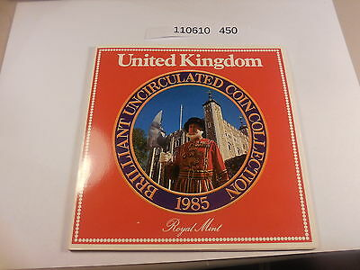 1985 Royal Mint United Kingdom Uncirculated Coin Collection Original Holder #610