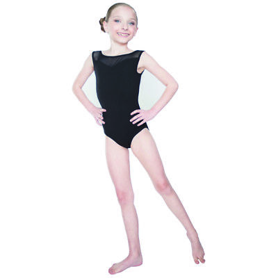 Dance Leotard Ballet Gymnastics Sleeveless Cotton Mesh Back Dancewear Adult