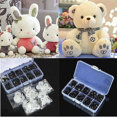 100pcs 6-10mm Black Plastic Safety Eyes For Rabbit Bear Doll Animal Puppet Craft