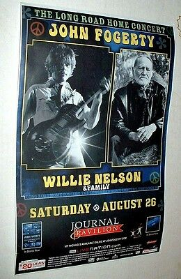 John Fogerty And Willie Nelson The Long Road Home Concert Poster August 2006