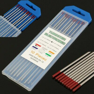 "10PCS 3/32"" x 7""(2.4*175mm) Thoriated Tungsten 2% Welding TIG Electrode WT20"