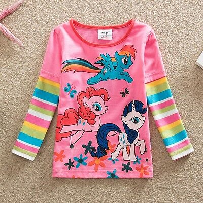 My Little Pony Girls Long Sleeved Printed Top, Cotton, Sizes 2 - 6