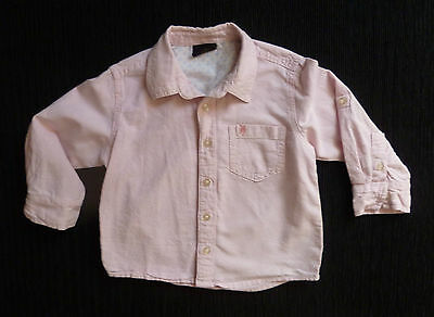 Baby clothes GIRL 18-24m NEXT pink long sl cotton shirt/blouse 2nd item post-fre