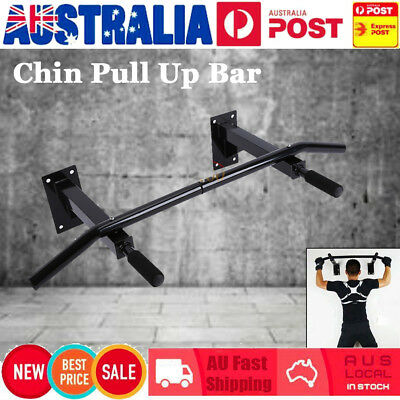 Wall Mounted Chin Up Pull Up Bar Trainer Power Training Gymnastic Suspension AU