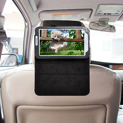 Car Headrest Mount with PU Leather Case TFY  for SAMSUNG Galaxy Tab 3 7.0 P3200