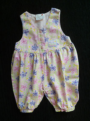 Baby clothes GIRL 0-3m Ladybird pink/mauve... floral dress-style romper cotton