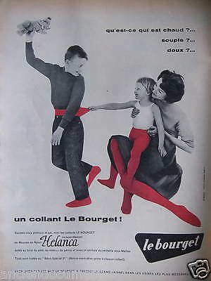 Publicité 1958 Collant Le Bourget Mousse De Nylon Helanca - Advertising