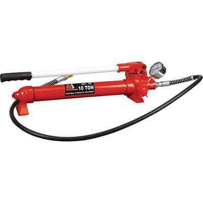 10 TON Hydraulic Hand Pump Hose & Gauge Porta Power used on 10 ton ram £75 + Vat