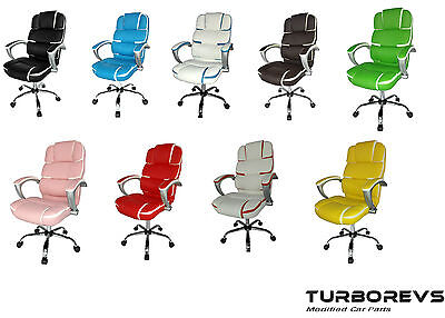 New Luxury Designer Reclining Executive Faux Leather Computer Desk Office Chair
