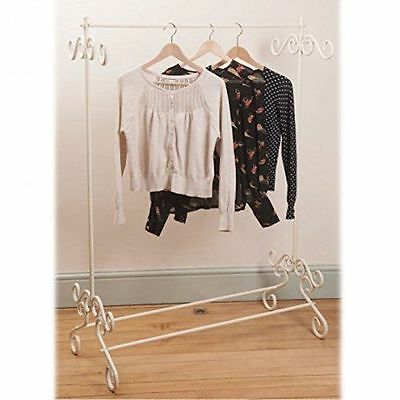Shabby Chic vintage metal clothes rail clothing stand chic Black NEW