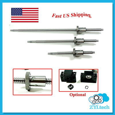 ZYLtech Precision (TRUE C7) 16mm Antibacklash Ball Screw 1605 w/ Ballnut - 400mm