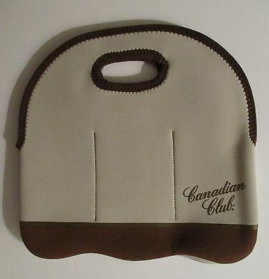 Canadian Club brand new 6 drink carry bag for home bar brew or collector