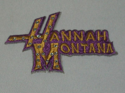Hannah Montana Embroideried Rinestone Patch Sticker