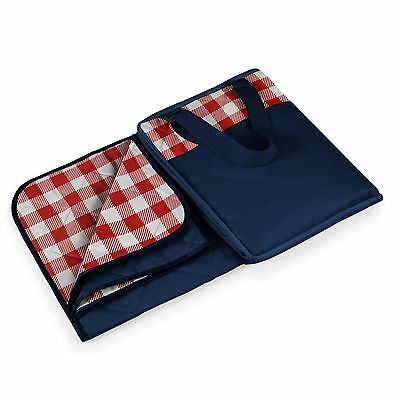 Picnic Time Vista Blanket Red Check with Navy