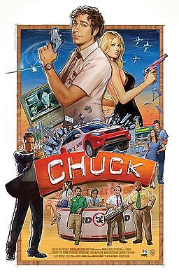 Chuck (2007-2012) Television Series POSTER Zachary Levi