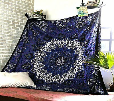 Purple Star Mandala Tapestry Wall Hanging Bohemian Queen bedding blanket