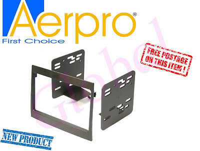 Aerpro Holden Commodore VY VZ Black Radio Double 2 Din facia dash panel FP9056
