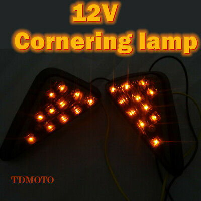 Clear Flush Mount LED Turn Signal Lamp Amber Light Indicator For Dirt Pit Bike