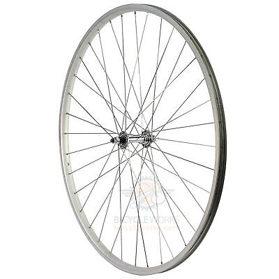 27 X 1 1/4 Alloy Front Wheel Nutted Hub Retro Vintage Old Road Bicycle Bike 4422