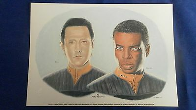 Star Trek Limited Edition Print Of Data And Geordie