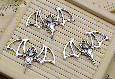 Lot 4~100pcs Crafts Retro Jewelry Making Bat Alloy Charms Pendant DIY 23x33mm
