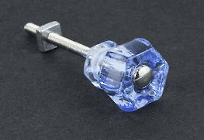 """12 Pack  1""""Depression Antique Style Ice Blue Glass Cabinet Knobs;Vanities"""