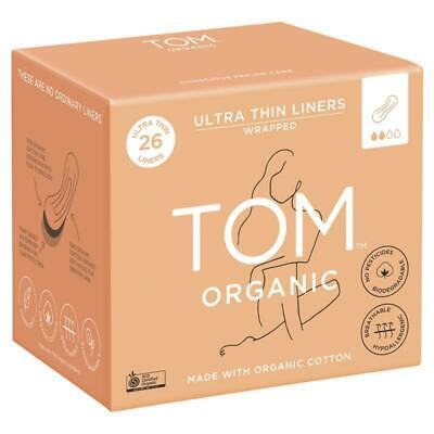 TOM Organic Ultra Thin Liners Wrapped 26 Pack