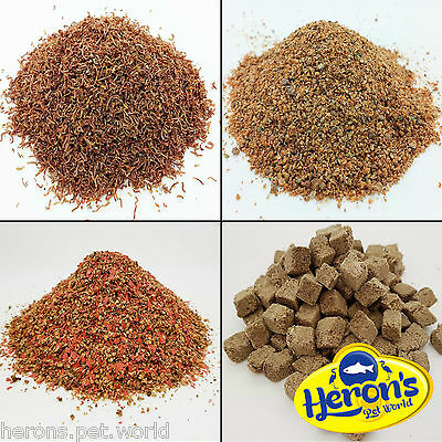 HERONS Freeze Dried Bloodworm Larvae, Daphnia, Tubifex FISH FOOD Betta Guppy