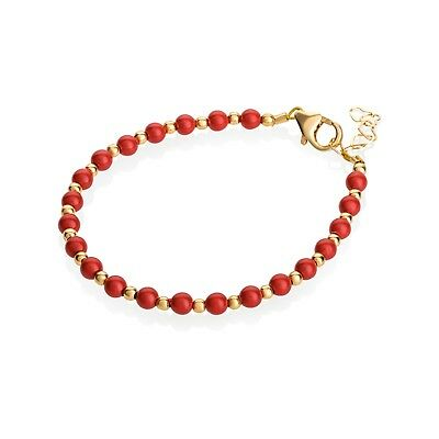 14kt Gold Filled Red Coral Bracelet