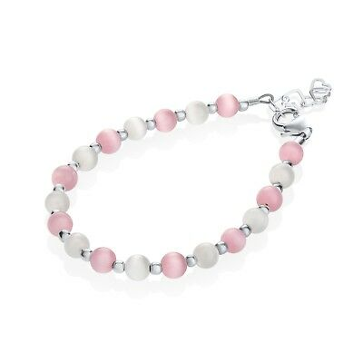 Pink and White Swarovsky Pearl Beads Bracelet