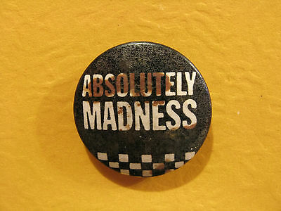 Madness Vintage Button Badge Pin Mods Ska Uk Import Absolutely Madness