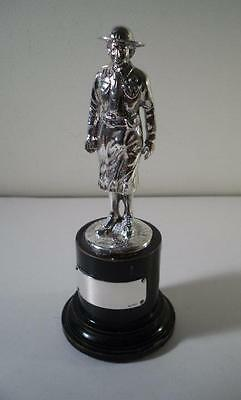 A Solidly Cast Silver Statue of a Girl Guide Leader : Birmingham 1936