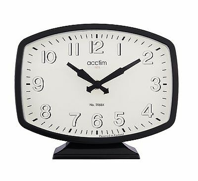 22.5 cm Dulwitch retro Vintage Style  Black Mantel Clock