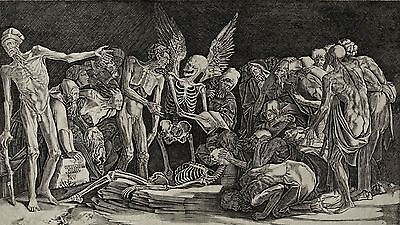 Skeletons - Allegory Of Death And Fame  Agostino dei Musi
