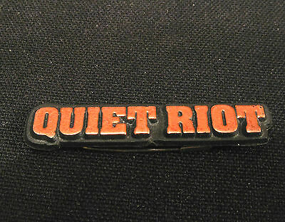 Small Quiet Riot Vintage Plastic Pin Uk Made