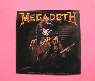 Megadeth New Official Sticker 2004