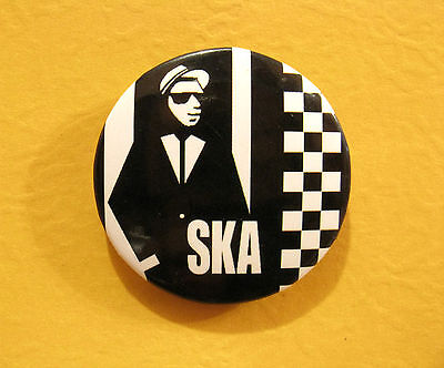 Ska New Button Badge Pin Mods Two Tone Rude Boys  Uk Import
