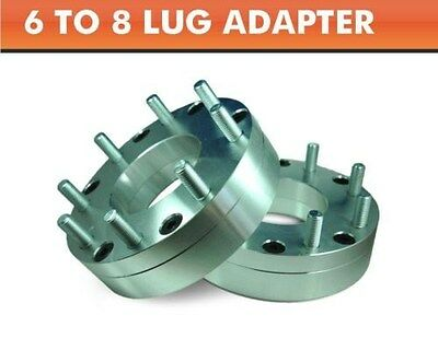 2 Wheel Adapters 6x5.5 to 8x6.5 ¦ Chevy GMC 8 Lug Wheels On Toyota 6 Lug Pickup