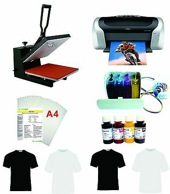 15x15  Heat Press Machine Epson Printer C88 CISS KIT
