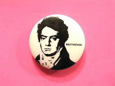 "Beethoven Vintage Badge 1"" Button Pin Classical Uk Import"