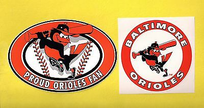 Baltimore Orioles MLB Baseball Team Logo Decal Stickers Lot of (2)