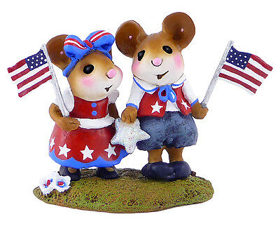 TRUE FOR THE RED, WHITE & BLUE by Wee Forest Folk, WFF# M-331a, LTD 2013