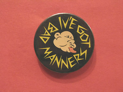 Vintage Bad Manners 2 Tone/ska Badge Button  Pin Uk Import  1 1/2""