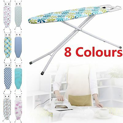 Highlands Deluxe Large Metal Ironing Board Iron Rack Height Adjustable 8 Covers